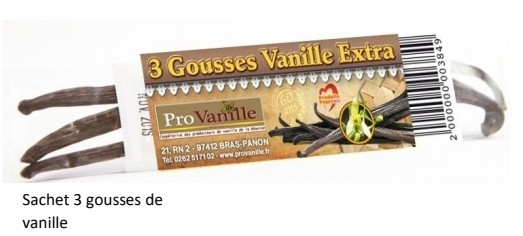 Vanille Tradition 3 Gousses